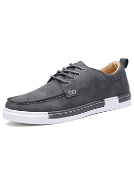 Simple Pu Lace Up Mens Casual Shoes