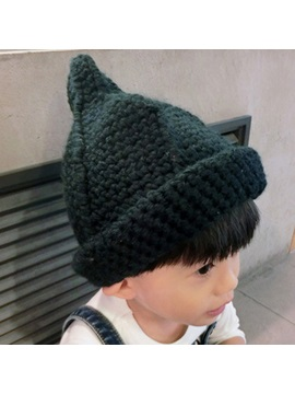 Roll Brim Design Kids Knitted Hat