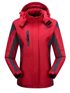 Polyester Waterproof Thermal Side Zipper Ski Outdoor Jacket