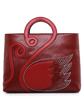 Ethnic Swan Patchwork Women Satchel