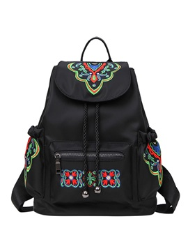 Multifunction Ethnic Embroidery Travel Backpack