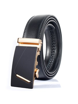 High Quality Leather Automatic Buckle Mens Belt