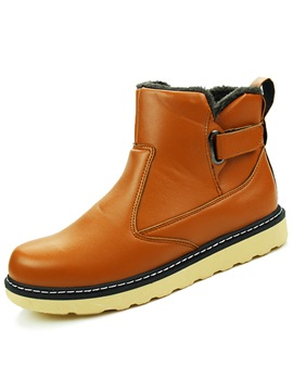 Pu Plain Velcro Mens Boots Sale