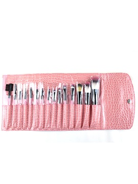 Professional 15 Pcs Pink Makeup Brush