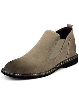 Pu Slip On Contrast Toe Mens Shoes