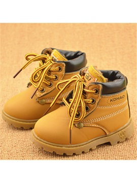 Lace Up Front Lined Little Kids Boots