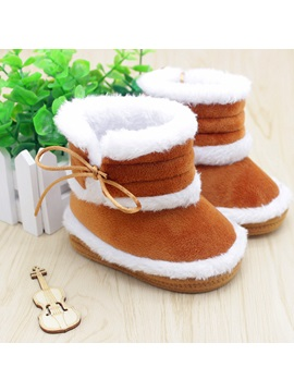 Solid Color Toddlers Shoes Baby Boots
