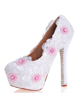 Pu Appliques High Heel Rhinestone Wedding Shoes