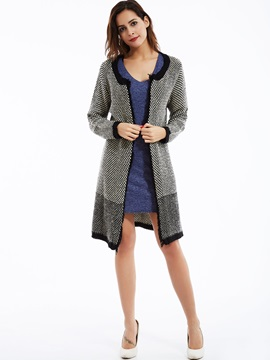 Stylish Round Neck Cardigan Sweater