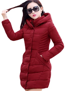 Stylish Single Breasted Slim Womens Cotton Overcoat