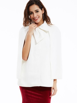 Stylish Bowknot Collar Loose Cape