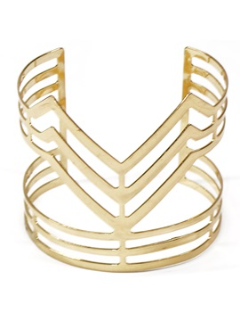 Golden Plated V Shaped Design Bracelet
