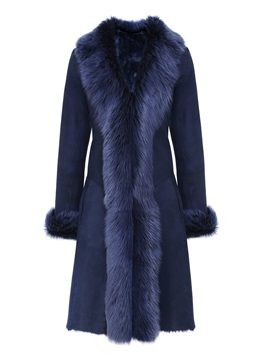 Faux Fur Patchwork Long Womens Overcoat