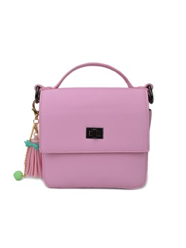 Korean Lichee Pattern Pu Women Satchel