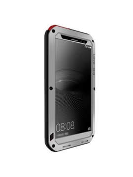 For Huawei Mate 8 Case Waterproof Shockproof Aluminum Back Tempered Glass Cover