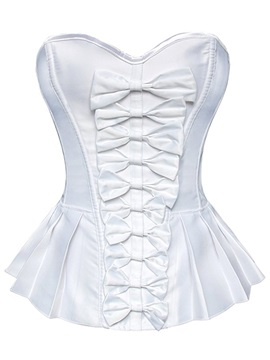 Elegant Bowknot Decorated Pleated Corset