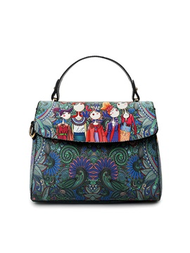 Korean Forest Print Women Satchel