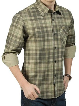 Plaid Fashion Pocket Mens Shirt