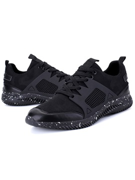 Cloth Patchwork Lace Up Round Toe Mens Sneakers