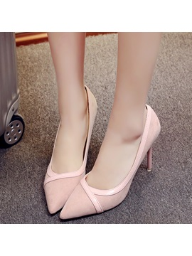 Elegant Pu Slip On Stiletto Heel Womens Pumps