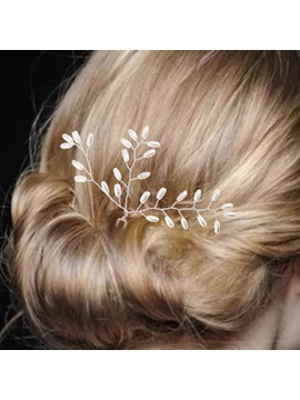 All Matched Pearls Decorated Wedding Hairpin