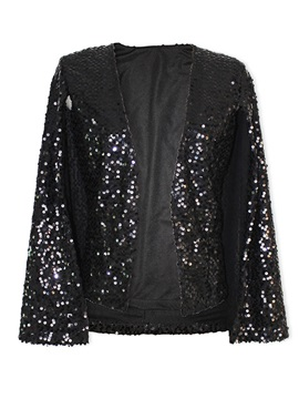 Stylish Sequins Straight Blazer