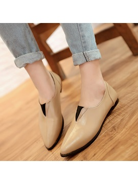 Cheap Pu Slip On Pointed Toe Womens Flats