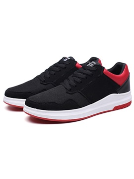 Pu Lace Up Mens Sneakers