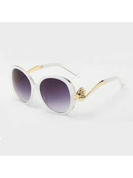 Golden Frame Anti Uv Sunglasses For Women