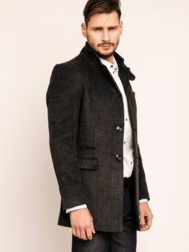Notched Lapel Two Button Casual Mens Coats