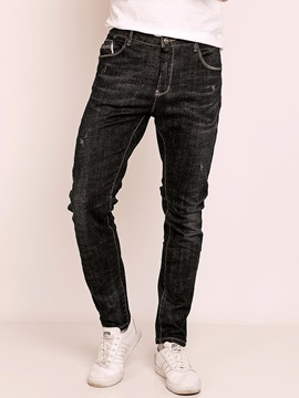 Plain Full Length Mens Mid Length Jeans
