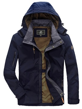 Hooded Zipper Mens Causal Jacket