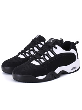 Pu Patchwork Lace Up Mens Sports Shoes