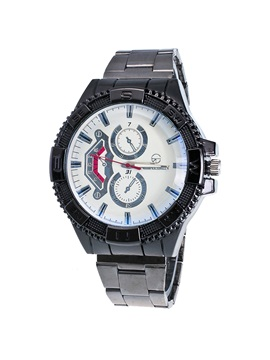 Gear Dial Design Steel Strip Mens Quartz Watch
