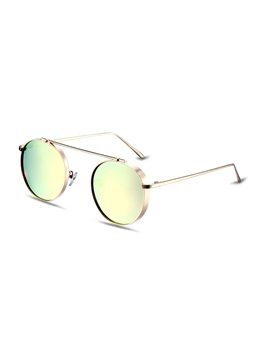 Round Retro Pink Lenses Womens Polarized Sunglasses