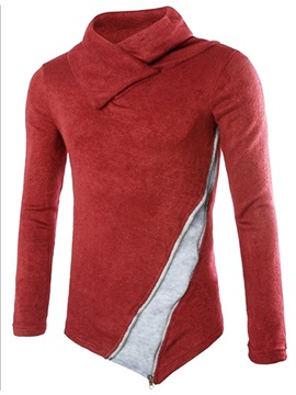 Asymmetric Patchwork Vogue Mens Sweater