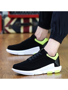 Pu Lace Up Round Toe Athletic Mens Sneakers