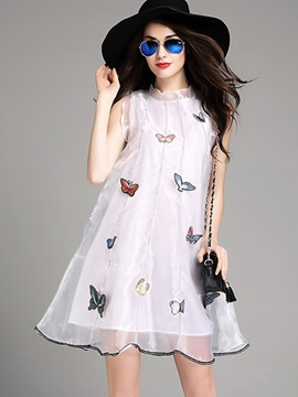 Unique Sleeveless Skater Dress