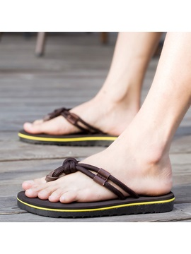 Beach Pu Thong Slip On Mens Sandals