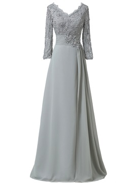 Sequins Lace Plus Size Mother Of The Bride Dress With Long Sleeve