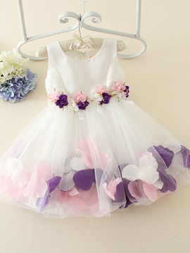 Lovely Scoop Neck Flower Girls Party Dress