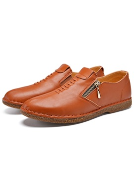 Pu Solid Color Mens Casual Shoes