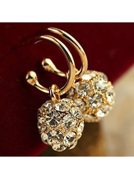 Full Rhinestone Spherical Sparkling Earrings