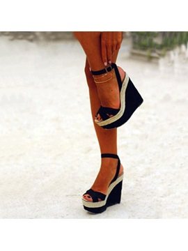Pu Line Style Buckle Best Sandals For Women
