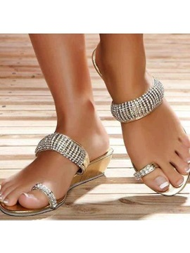 Pu 3d Ring Toe High Quality Womens Sandals