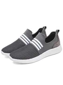 Spandex Elastic Band Patchwork Mens Sneakers
