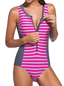Color Block Stripe Monokini