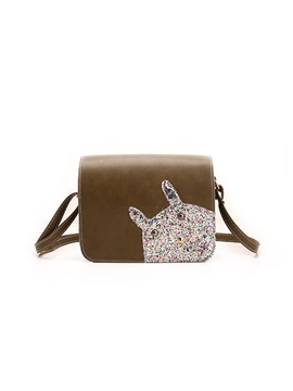 Lovely Cartoon Sequins Decorated Crossbody Bag