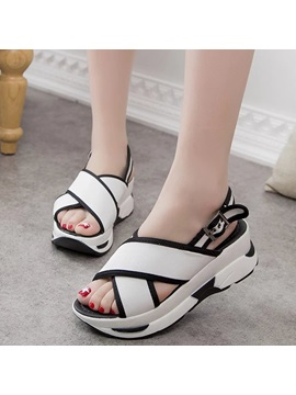 Cloth Buckle Platform Womens Chic Sports Sandals