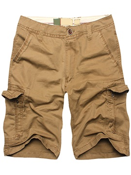 Overall Pockets Knee Length Mens Casual Shorts